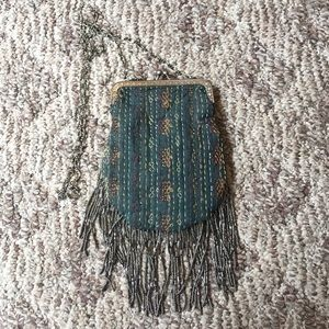 Free People NWOT Boho Green Crossbody Purse